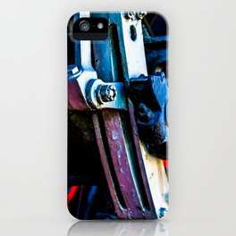 Vintage Driving Mechanical Gear Of A Steam Engine Locomotive iPhone Case