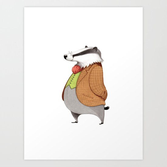 Mr. Badger Art Print