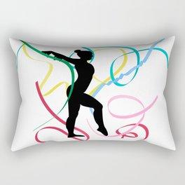 Ribbon dancer on white Rectangular Pillow