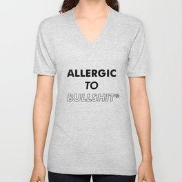 Allergic to bullshit - Poster Print #tumblr Unisex V-Neck
