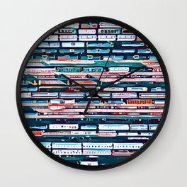 Cool patterns ~ Train Jam Wall Clock