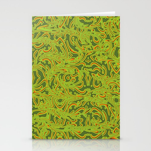 Sixties Swirl Stationery Cards