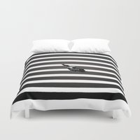 skate Duvet Covers featuring Skate by KATA