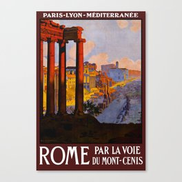 Vintage Rome Italy Travel Canvas Print