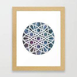 Galaxy Cutout Framed Art Print
