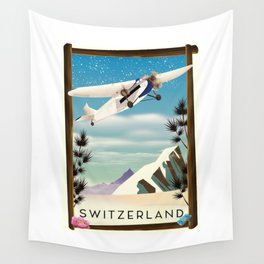 Switzerland travel poster Wall Tapestry