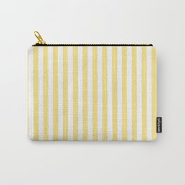 Modern geometrical baby yellow white stripes pattern Carry-All Pouch