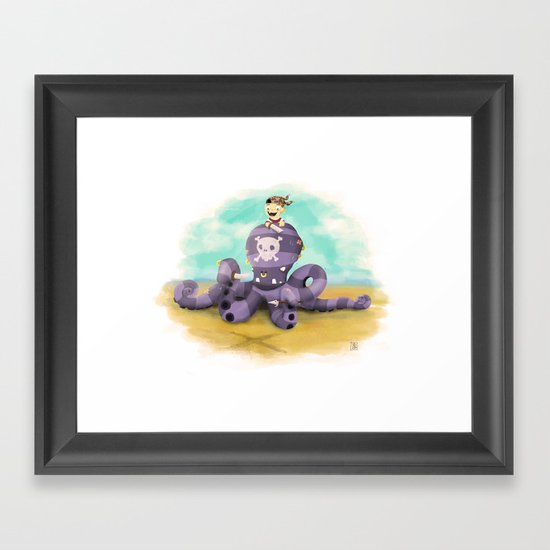 Pirates what?! Framed Art Print