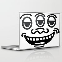 keith haring Laptop & iPad Skins featuring Keith by Top Head Culture