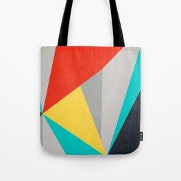 Aggressive Color Block Tote Bag