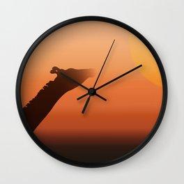 Sunny Giraffe Wall Clock