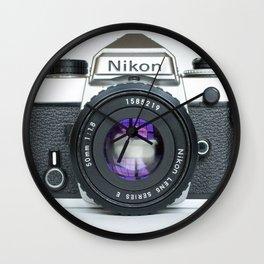 Vintage Nikon Camera Wall Clock
