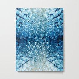 Blue Sky in Mirrors Metal Print