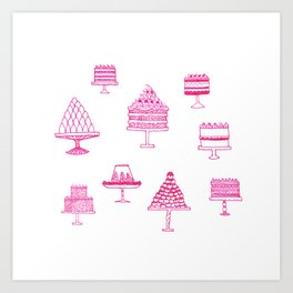 Pudding Buffet Art Print