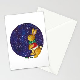 Snowflakes bunny Stationery Cards