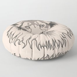 Lion Head Floor Pillow