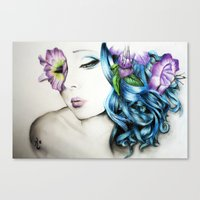 perfume Canvas Prints featuring Perfume  by KhalilKhalidy