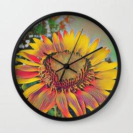 Nontraditional Sunflower Wall Clock