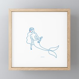 Farts under the sea Framed Mini Art Print