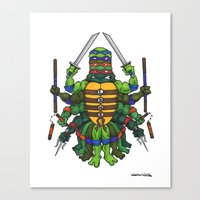tmnt Canvas Prints featuring TMNT by Artifact Supply