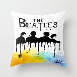 60's Rock Band Throw Pillow