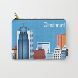 Cincinnati, Ohio - Skyline Illustration by Loose Petals Carry-All Pouch