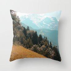Mountain saturation Throw Pillow