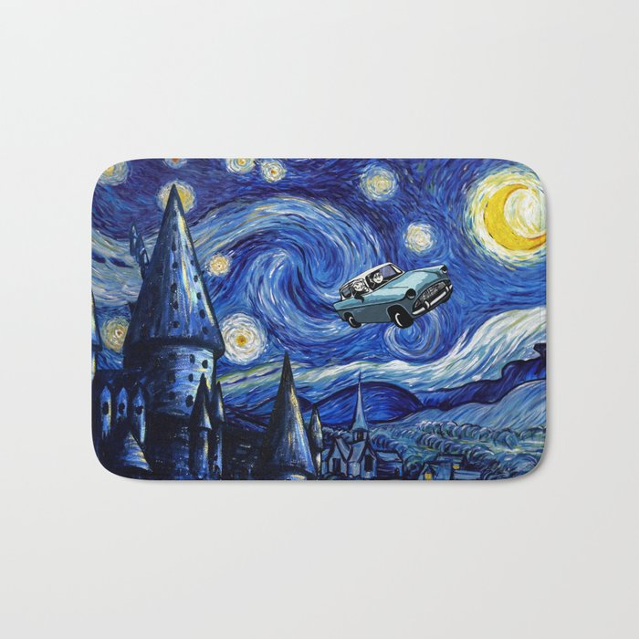 Harry And Ron on The Flying Car Bath Mat