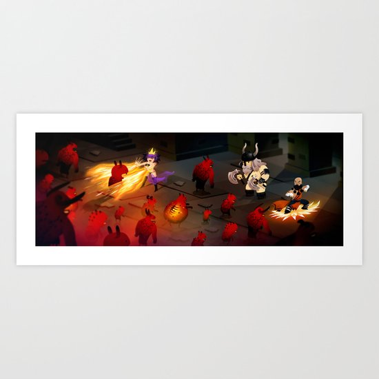 Cute Dungeon Crawling Art Print