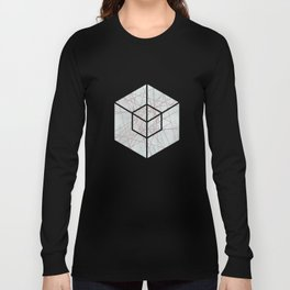 Rose Gold Glitter Line Art On Teal Long Sleeve T-shirt