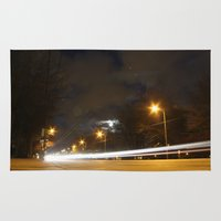 broadway Area & Throw Rugs featuring Broadway night blur by RMK Photography