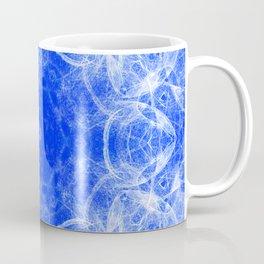Fractal lace mandala in blue and white Coffee Mug