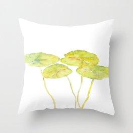 lotus leaves Throw Pillow