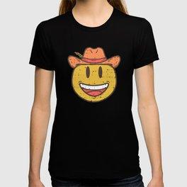 Cowboy Rancher cattleman  Smiley Gift T-shirt