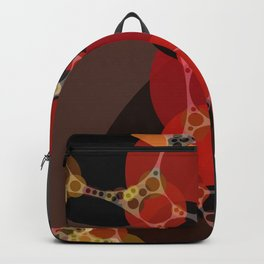phoebe - dark red charcoal grey chestnut brown abstract design Backpack
