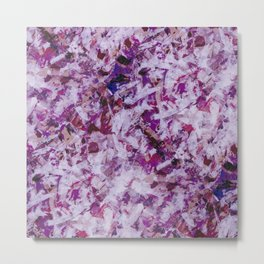 Abstract flowers painting Metal Print
