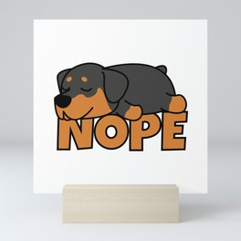 Nope Rottweiler Mini Art Print