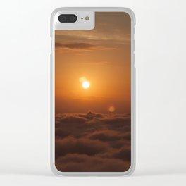 Three Sun SunSet Clear iPhone Case