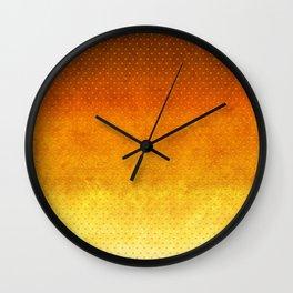 """Sabana Sunset Degraded Polka Dots"" Wall Clock"