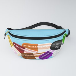 Pill Popper Party Blue Fanny Pack