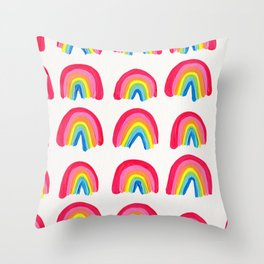 Rainbow Collection – Classic Palette Throw Pillow