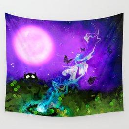 Pink Moon Magic Wall Tapestry