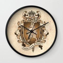 Stag Deer Coat Of Arms Heraldry Wall Clock