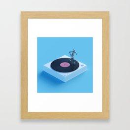 Vinyl Jogging Framed Art Print
