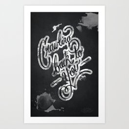 Crawling Art Print