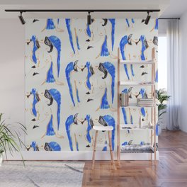 Nudes in Gold and Blue Wall Mural