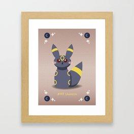 Evolution Bobbles - Umbreon Framed Art Print
