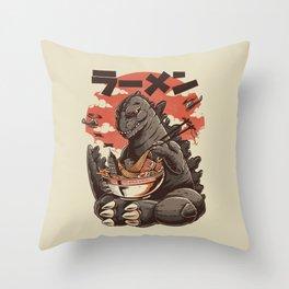 Kaiju's Ramen Throw Pillow