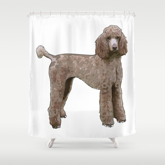 Elegant Poodle Shower Curtain By Gangsterrapandcoffee