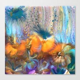 Pansy Garden Canvas Print